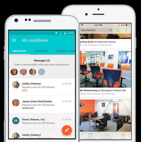 LiquidSpace mobile app