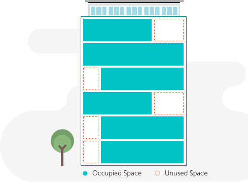 Building with Unused Space